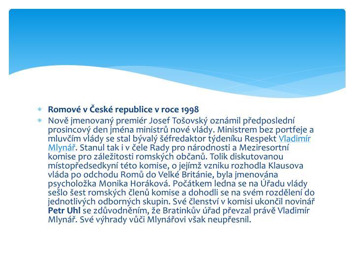 Romové v České republice v roce 1998