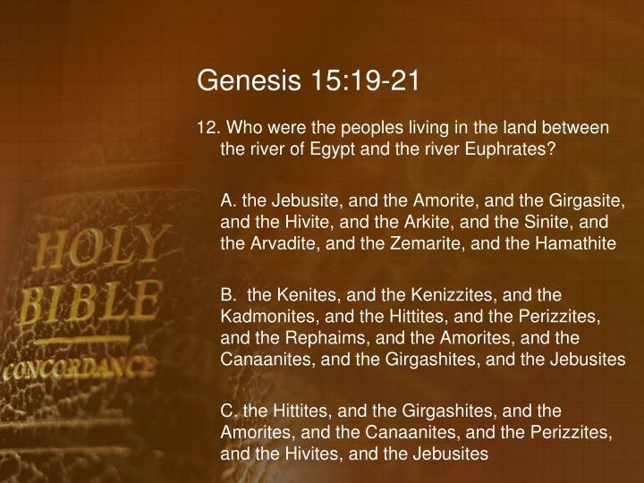 Genesis 15:19-21