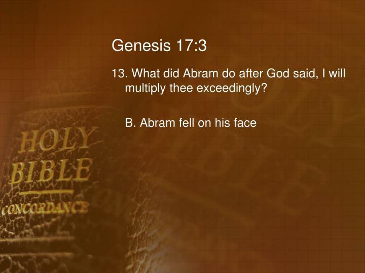 Genesis 17:3