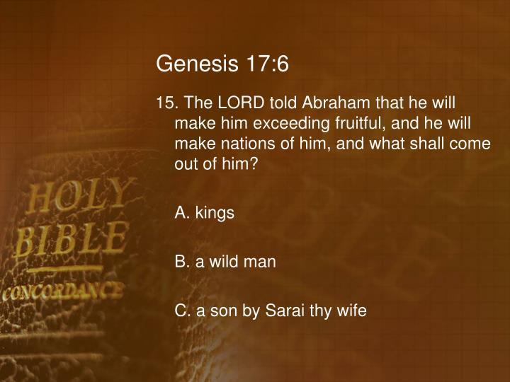 Genesis 17:6