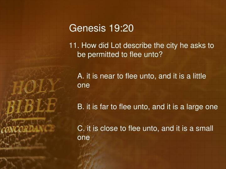 Genesis 19:20