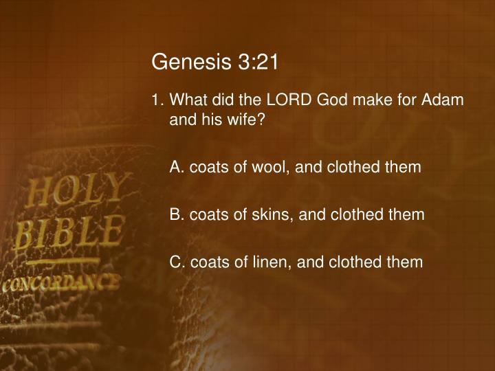 Genesis 3:21