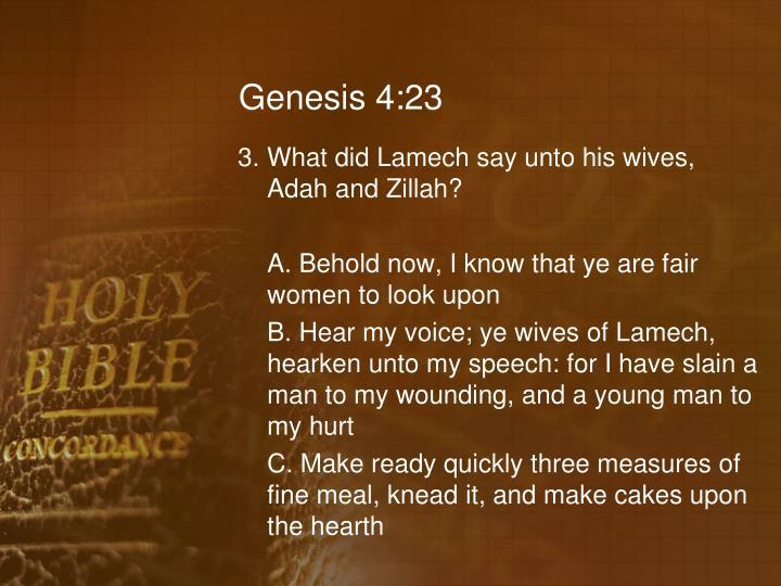 Genesis 4:23