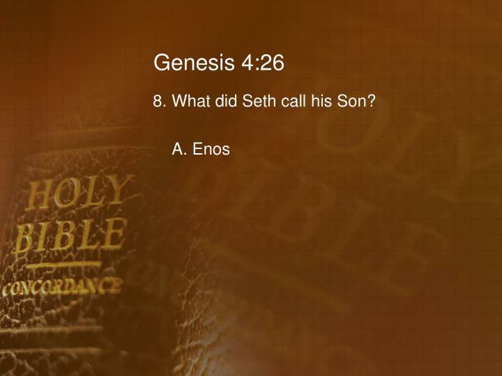 Genesis 4:26