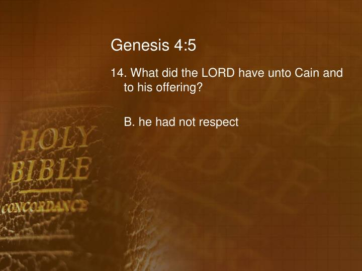 Genesis 4:5