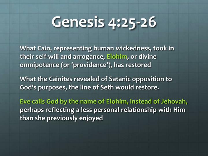 Genesis 4:25-26