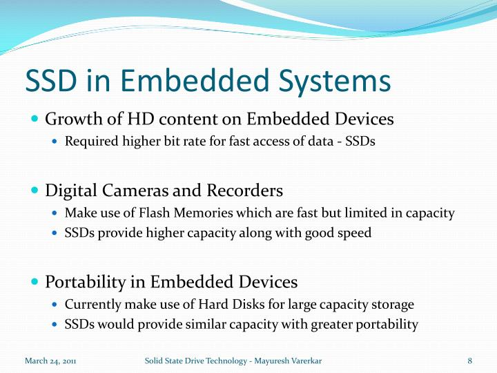 SSD in Embedded Systems