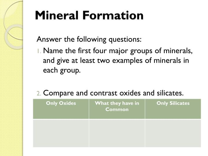 Mineral Formation