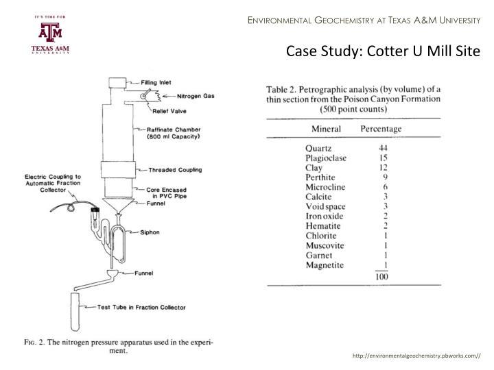 Case Study: Cotter U Mill Site
