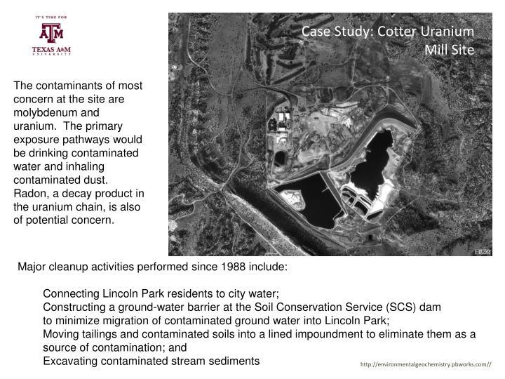 Case Study: Cotter Uranium