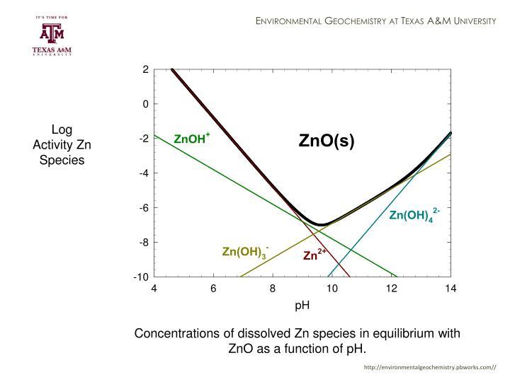Log Activity Zn Species