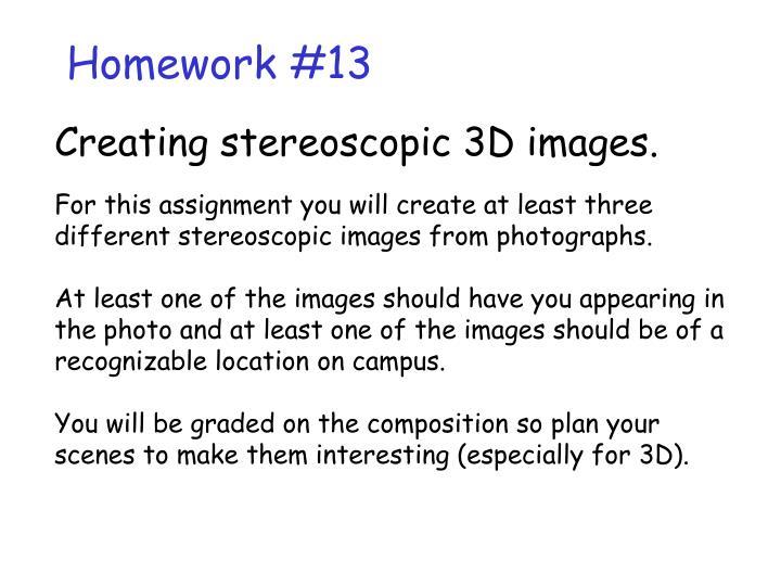 Homework #13