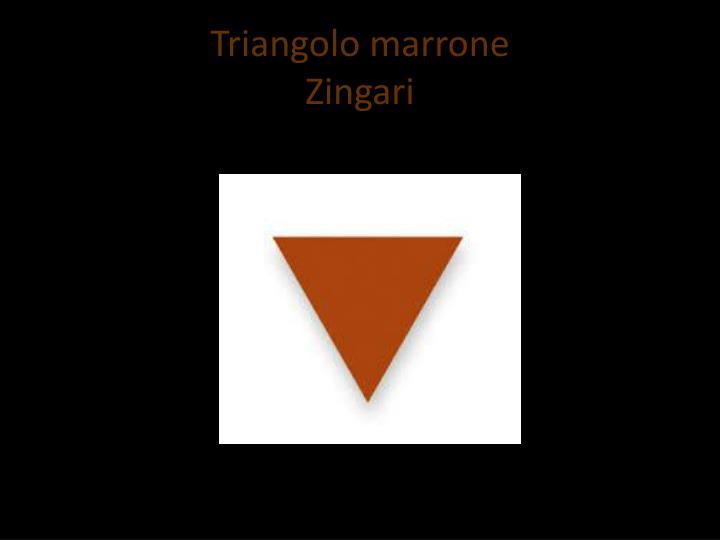 Triangolo marrone
