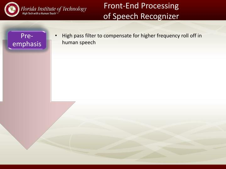 Front-End Processing