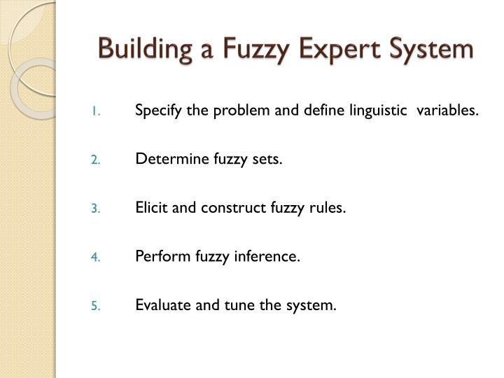 Building a Fuzzy Expert System