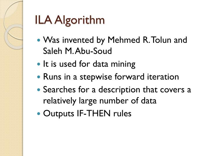 ILA Algorithm