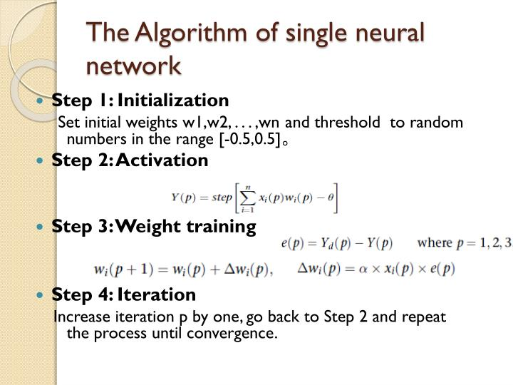 The Algorithm of single neural network