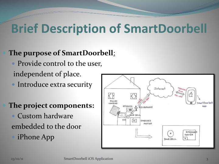 Brief description of smartdoorbell