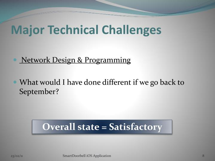 Major Technical Challenges