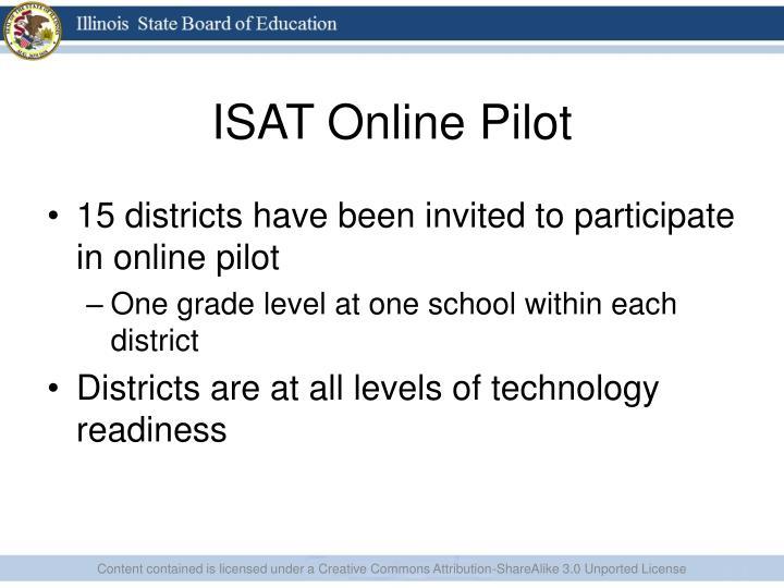 ISAT Online Pilot