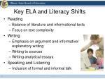 key ela and literacy shifts