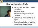 key mathematics shifts