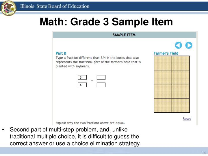Math: Grade 3 Sample Item