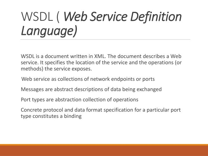 WSDL (