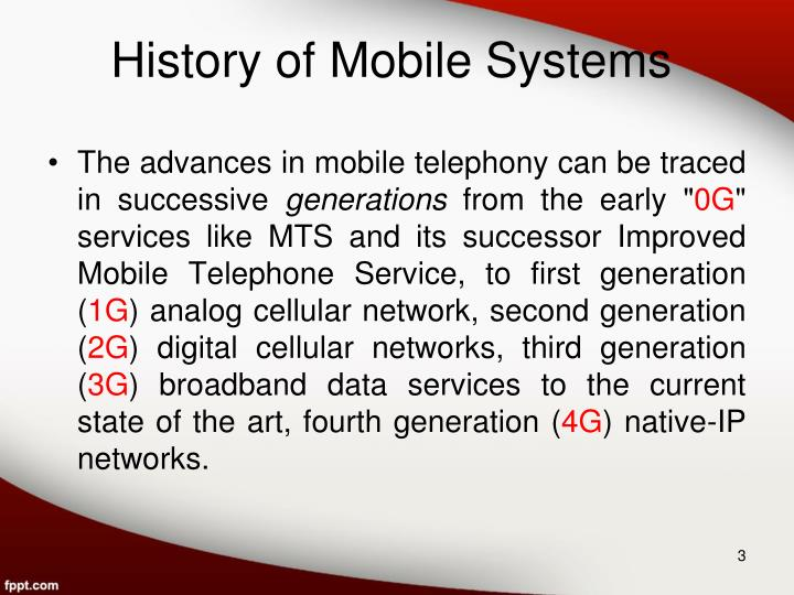History of Mobile Systems
