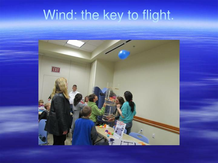 Wind: the key to flight.