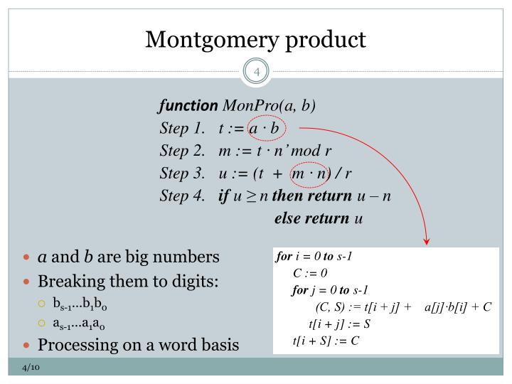 Montgomery product