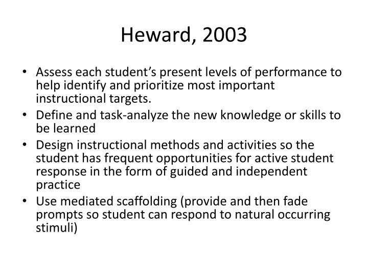 Heward, 2003