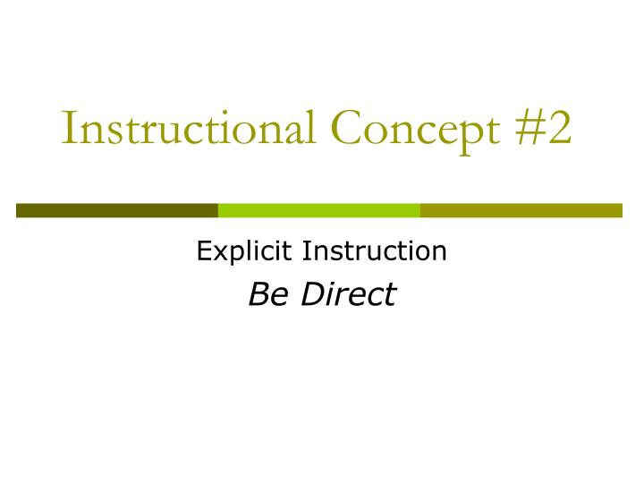 Instructional Concept #2