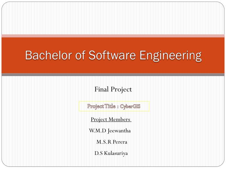 Bachelor of Software Engineering