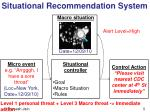 situational recommendation system