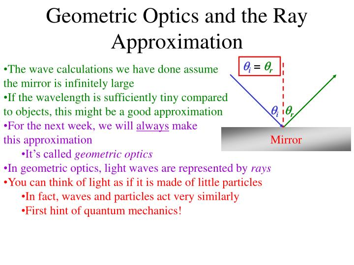 Geometric Optics and the Ray Approximation