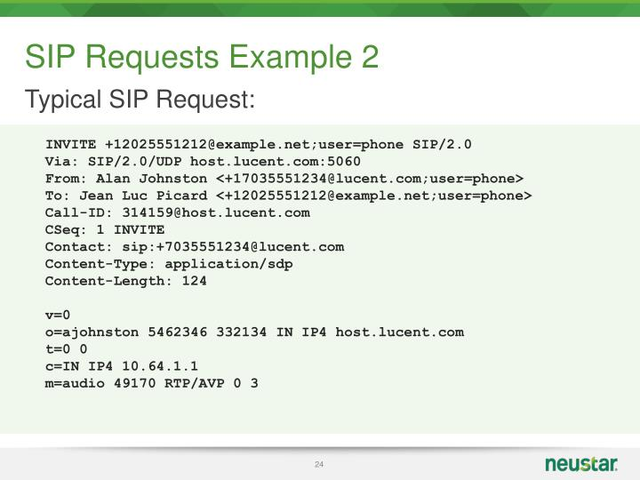 SIP Requests Example 2