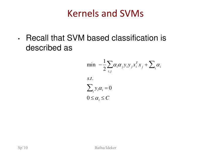 Kernels and SVMs