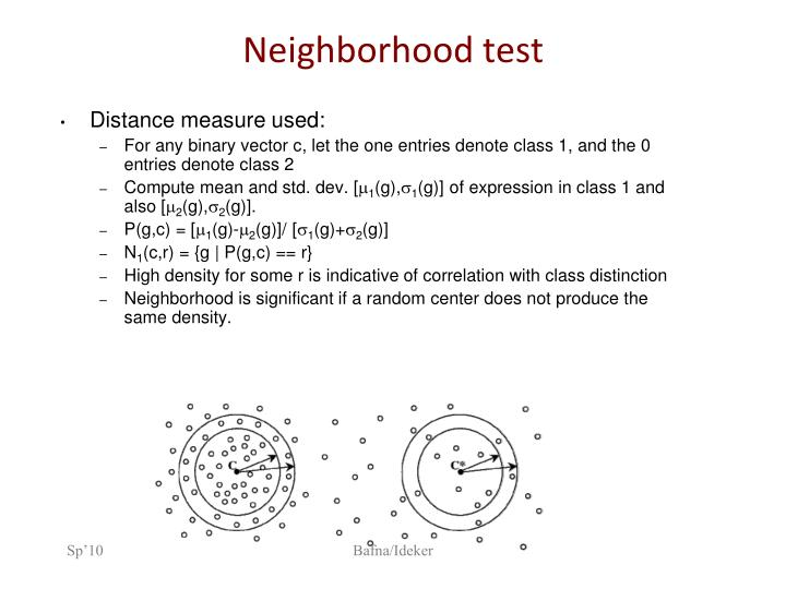 Neighborhood test