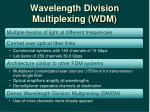 wavelength division multiplexing wdm
