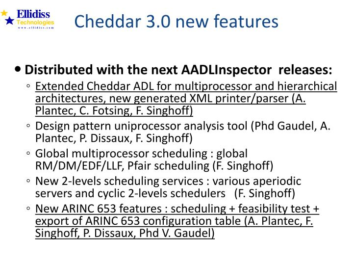 Cheddar 3.0 new features