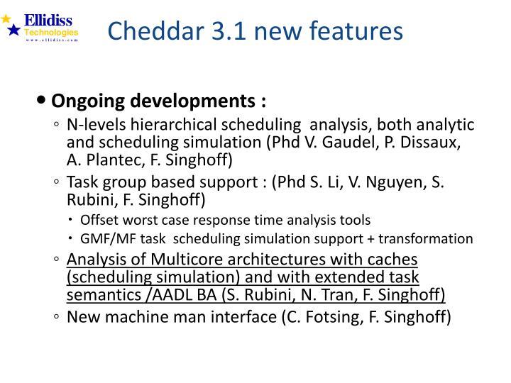 Cheddar 3.1 new