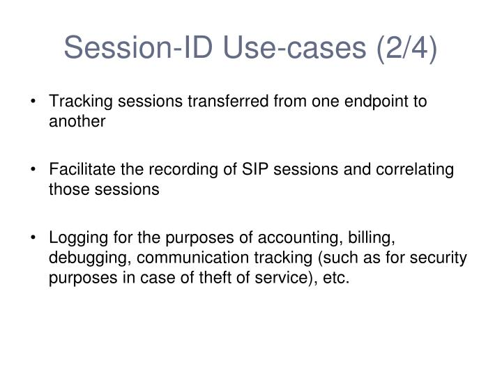 Session-ID Use-cases (2/4)