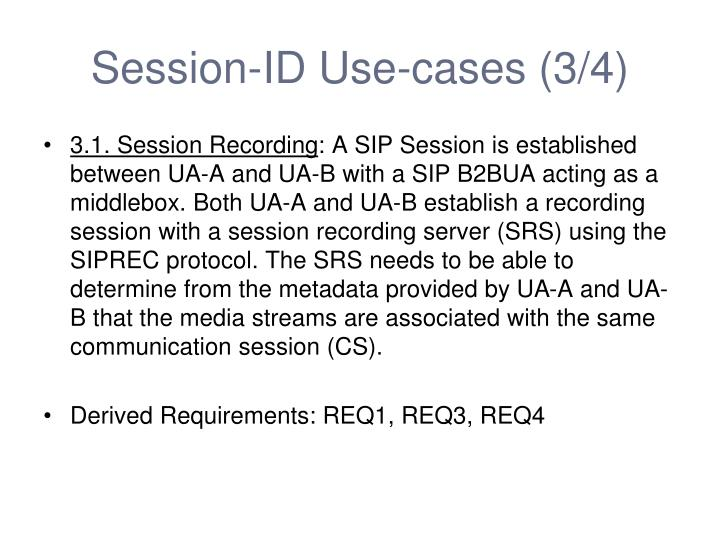 Session-ID Use-cases (3/4)