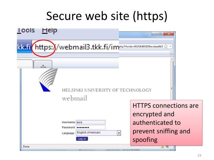 Secure web site (https)