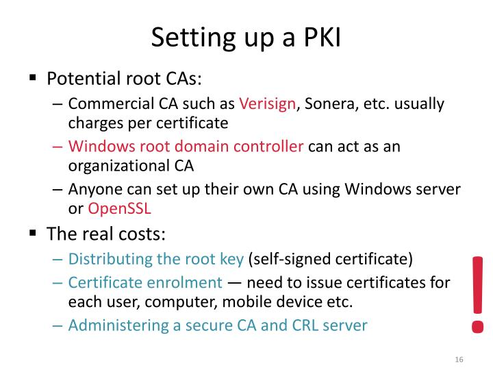 Setting up a PKI