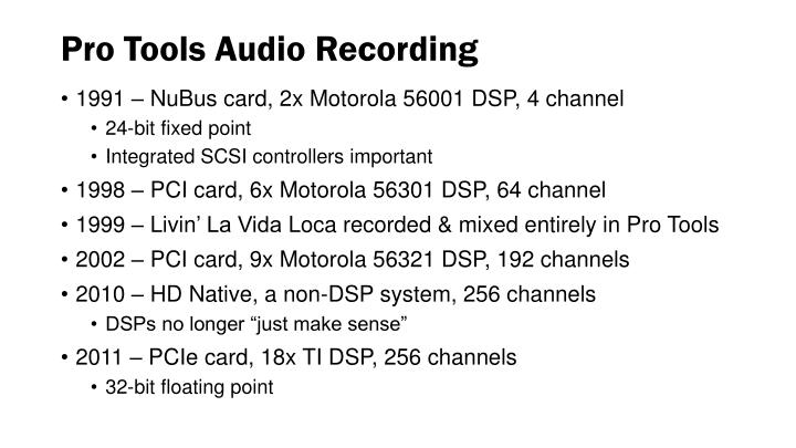 Pro Tools Audio Recording