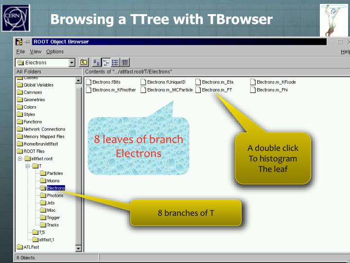 Browsing a TTree with TBrowser