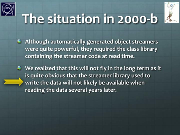 The situation in 2000-b