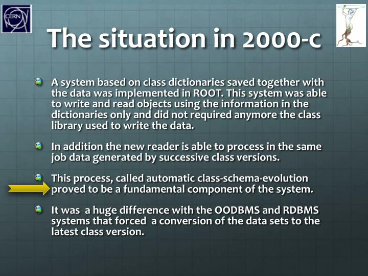 The situation in 2000-c